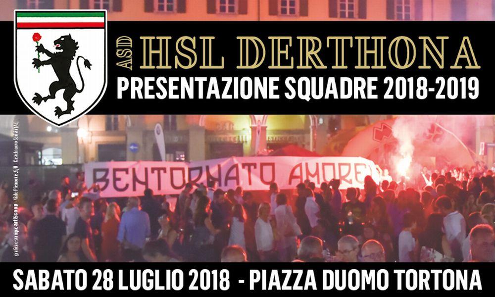 Una grande festa per l'HSL Derthona in piazza Duomo a Tortona