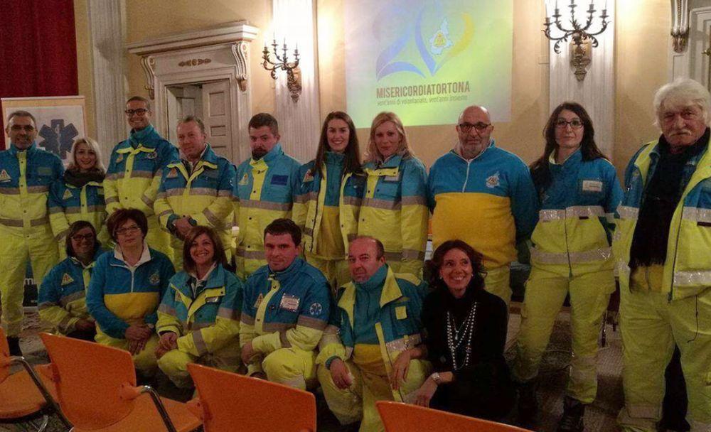 Anche un gruppo di tortonesi della Misericordia, a Genova, per aiutare gli sfollati
