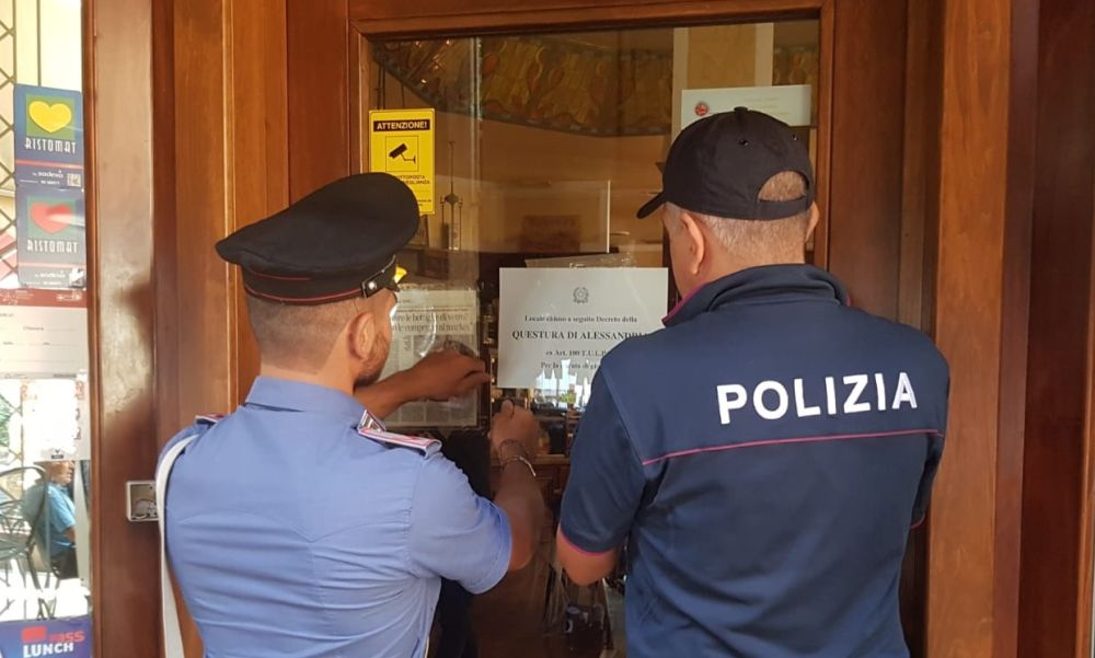 La Polizia di Stato sospende la licenza di un noto bar della zona centro studi a Ventimiglia