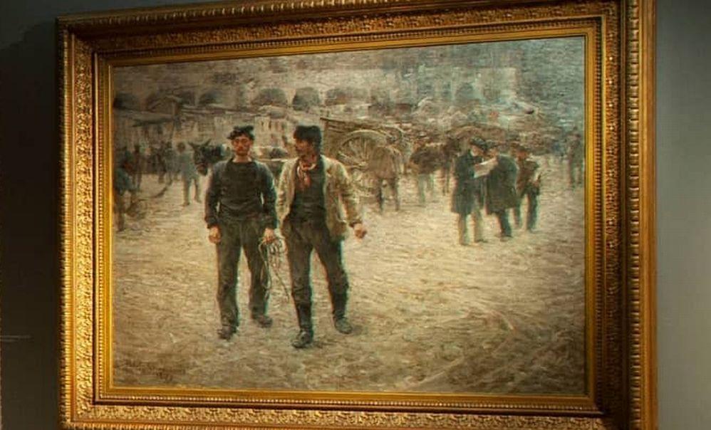 Piazza Caricamento, un'opera molto importante di Nomellini al Museo del Divisionismo