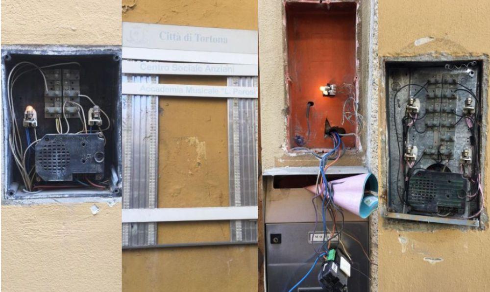 Tortona saccheggiata dai ladri di targhe e citofoni: ingenti danni per tanti abitanti