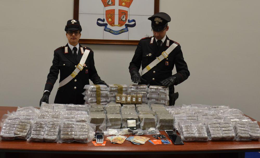 Ingente sequestro di droga effettuato dai Carabinieri di Novi Ligure