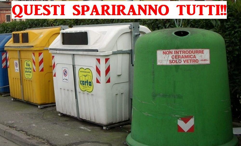 A breve a Pontecurone, Carbonara e Villaromagnano saranno tolti tutti cassonetti dei rifiuti