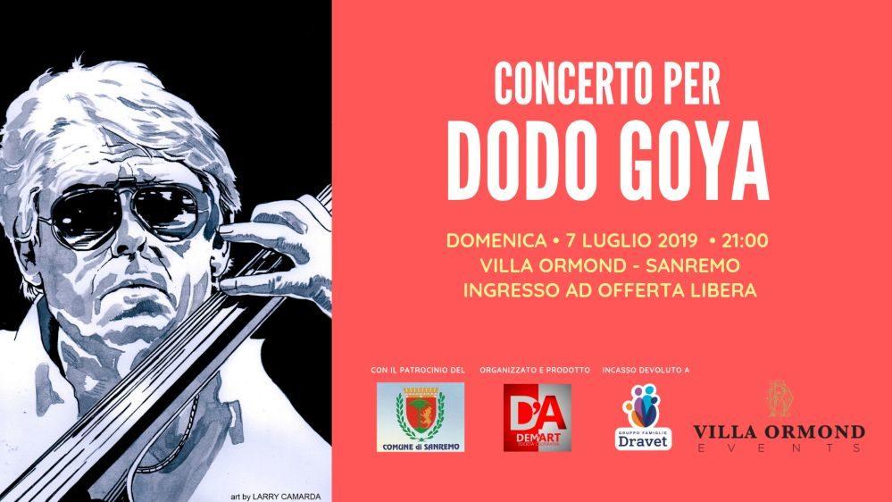 "A Sanremo ""Concerto per Dodo Goya"" con ""Aperitivo pre-Concerto"""