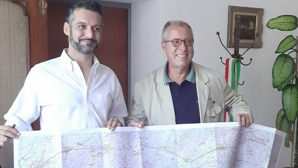 """Il Comune di Tortona con Sandro Vannucci per promuovere  il """"Cammino di San Michele"""" che farà tappa qui"""