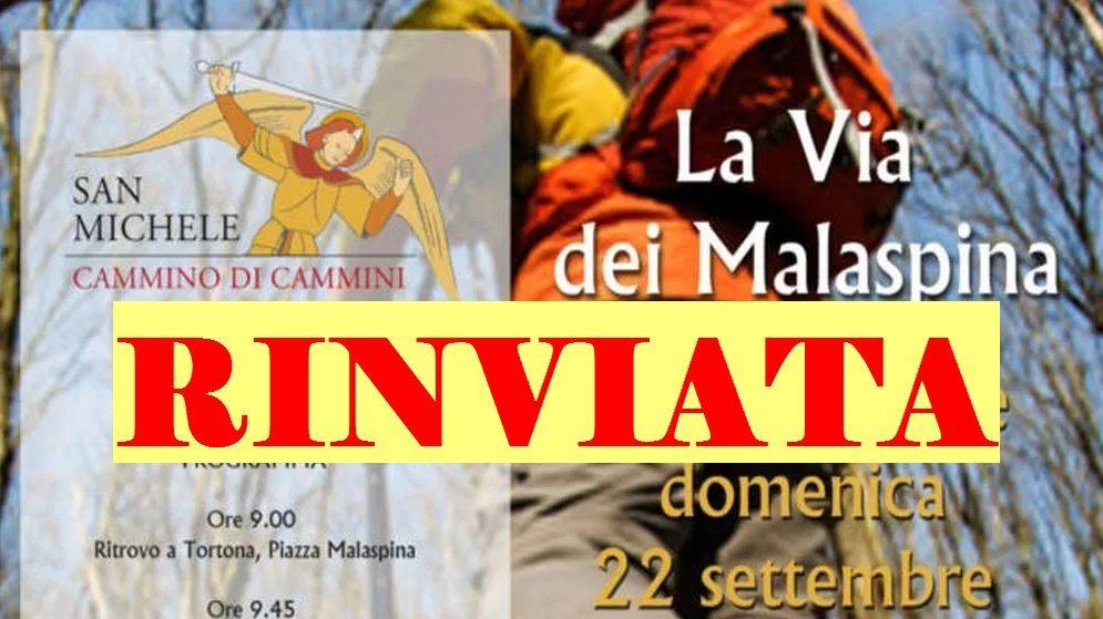 Rinvata a Domenica 29 l'inaugurazione della via dei Malaspina a Tortona