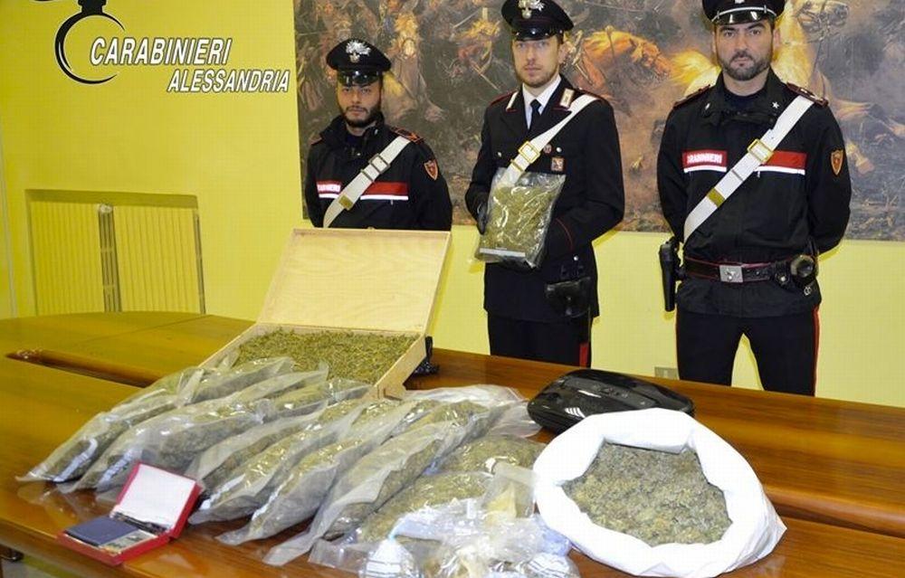 Blitz nella serra ad Alessandria, arrestato un 64enne che coltivava marijuana. Oltre 25 kg quella già essiccata