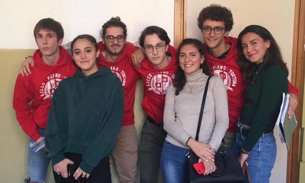 Gli studenti del Liceo Peano di Tortona a Torino per la disputa classica