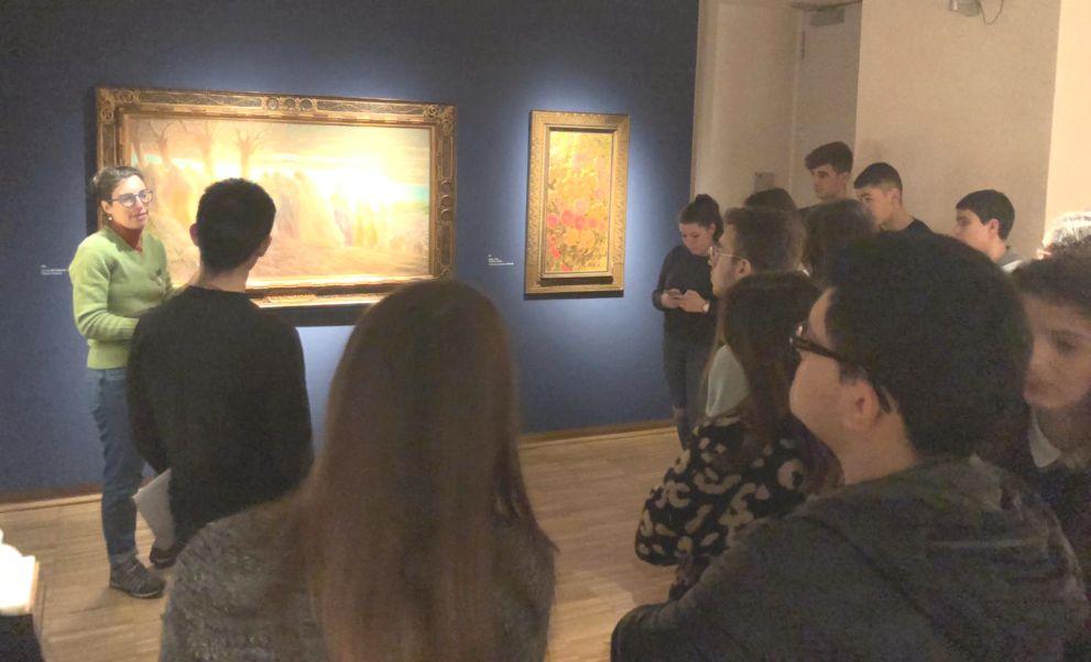 Gli studenti dell'I.I.S. Marconi alla scoperta della storia e della cultura divisionista alla Pinacoteca della Fondazione