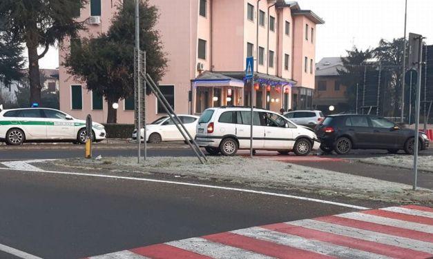 Una donna ferita in questo incidente stradale avvenuto ieri a Tortona