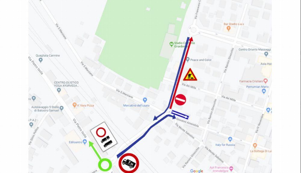 Novi Ligure, da martedì modifiche viabilità per un cantiere in via Crispi