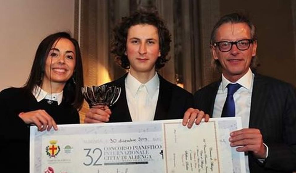 Stefano Scalise dell'Accademia Perosi di Tortona vince il primo premio al concorso internazionale di Albenga
