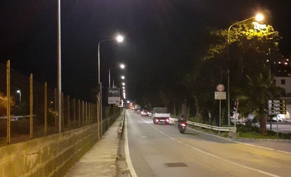 """Imperia, ecco le nuove luci a led a Borgo Prino. D'Agostino: """"Grande attenzione all'illuminazione pubblica"""""""