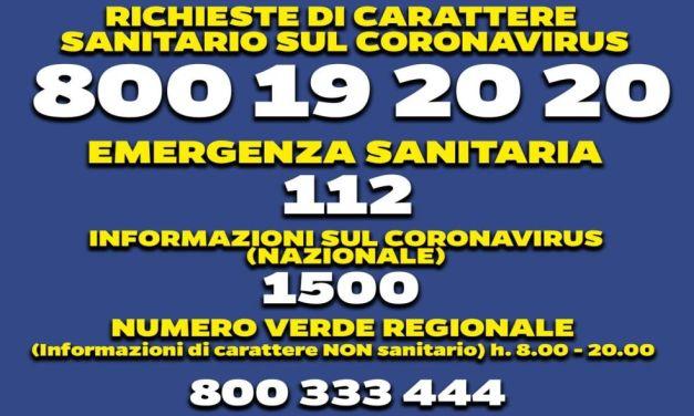 Coronavirus, la Regione Piemonte attiva un apposito numero verde: 800333444