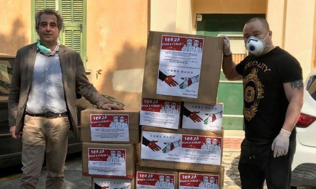 Coronavirus: la comunità cinese dona le mascherine  all'Ospedale di Sanremo