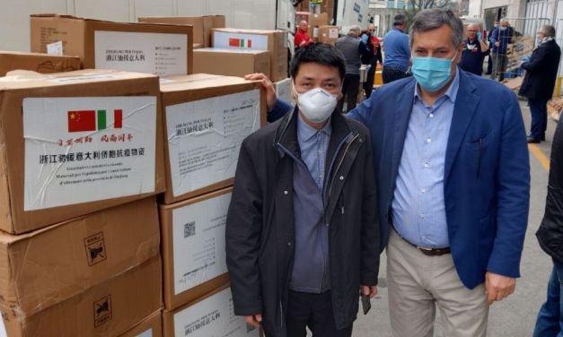Le immagini del materiale arrivato dalla Cina anche per il Piemonte