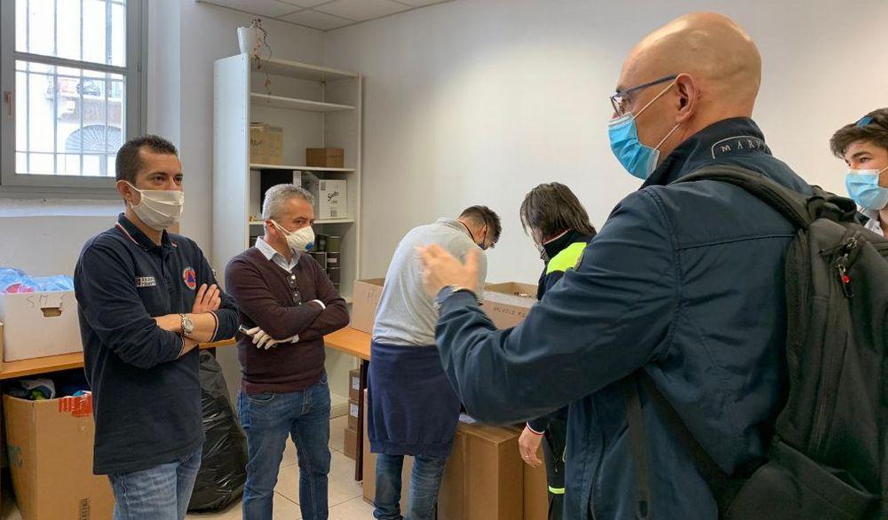 L'assessore regionale alla Protezione Civile  Marco Gabusi in visita ad Acqui Terme.