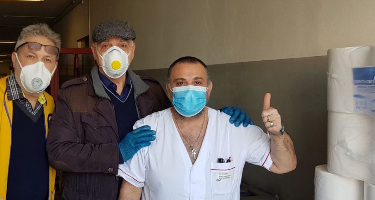 Grazie al Lions mascherine per i sanitari che lavorano all'ospedale di Ovada