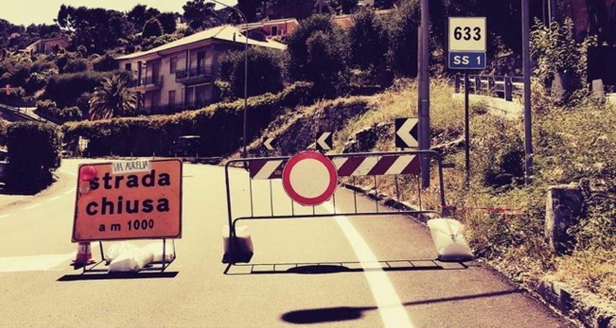 Aurelia chiusa tra Cervo ed Andora: obbligatorio l'utilizzo dell'autostrada. Di Giulia Quaranta Provenzano
