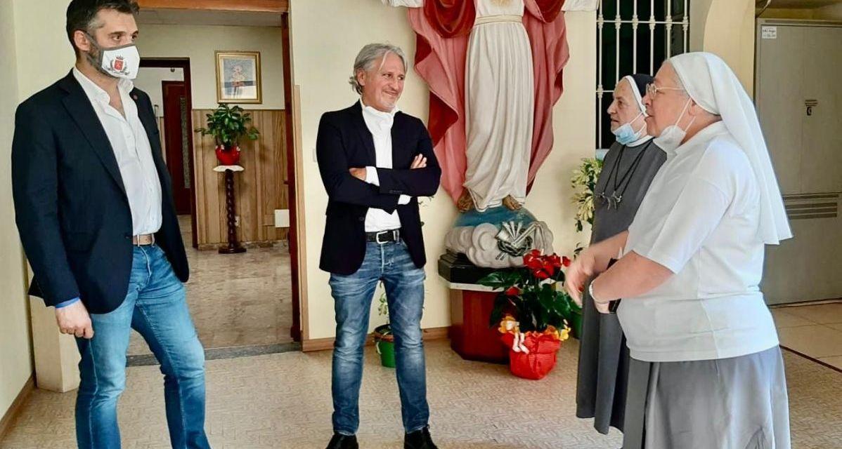 La superiora Generale delle Suore orionine a Tortona elogia Fabio  Morreale e Federico Chiodi nel mondo