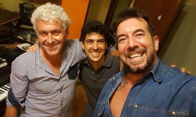L'Autore delle canzoni di Mina in studio a Sarezzano con Emanuele Semino ed Enzo Consogno