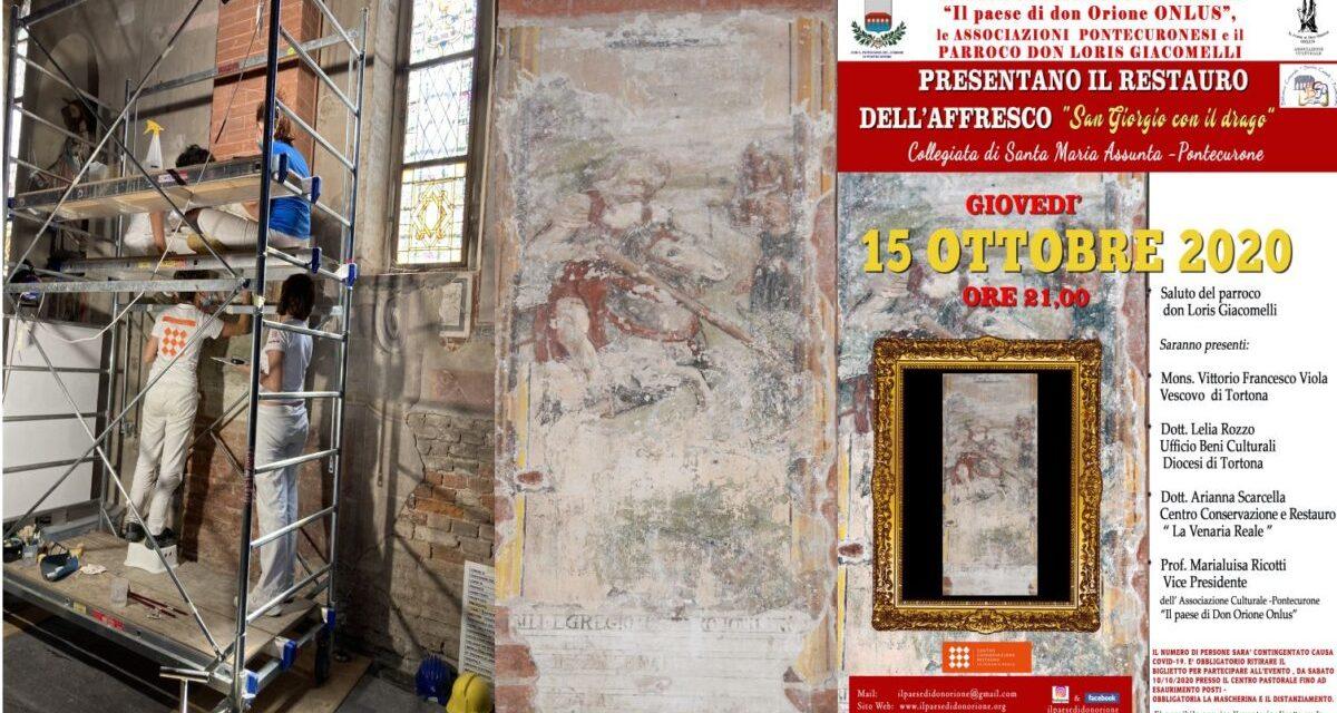 """Giovedì a Pontecurone si inaugura l'affresco restaurato """"San Giorgio uccide il drago"""""""