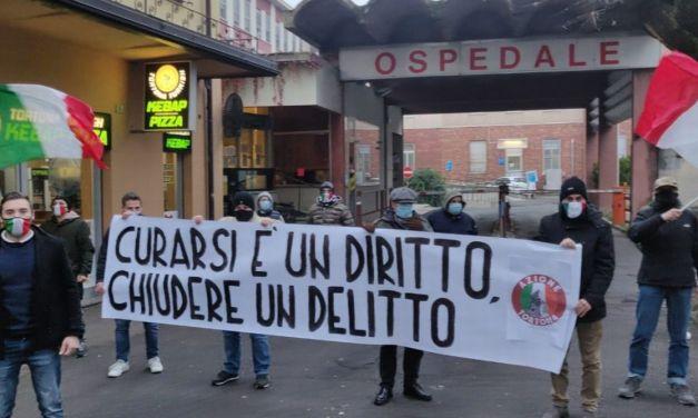 """Azione Tortona protesta contro la nuova chiusura dei servizi ospedalieri, """"Chiudere è un delitto"""""""