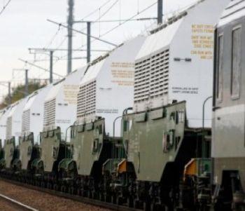 Un treno con le scorie nucleari