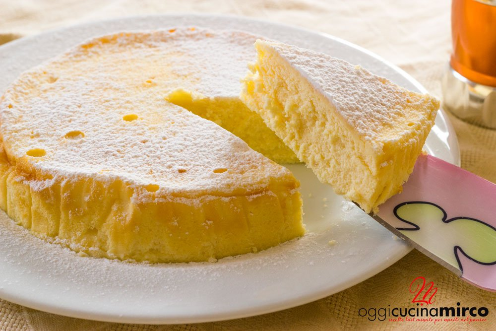 Cheesecake giapponese con 3 ingredienti Japanese Cotton Cheesecake  OggiCucinaMirco