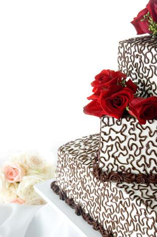 Torta nuziale a pi piani