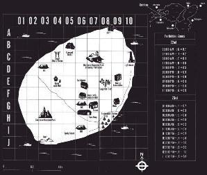 Carte d'Okishima dans le roman