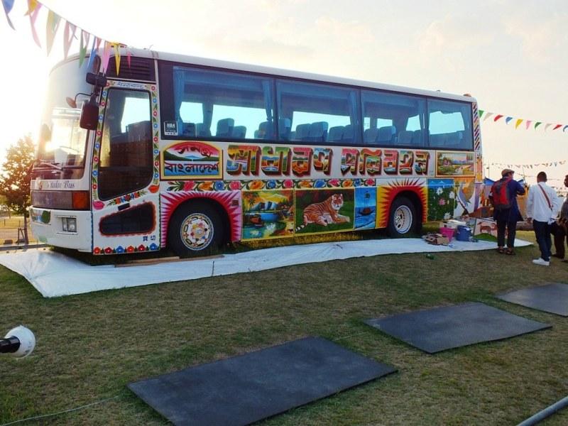 Peinture sur bus à Bengal Island