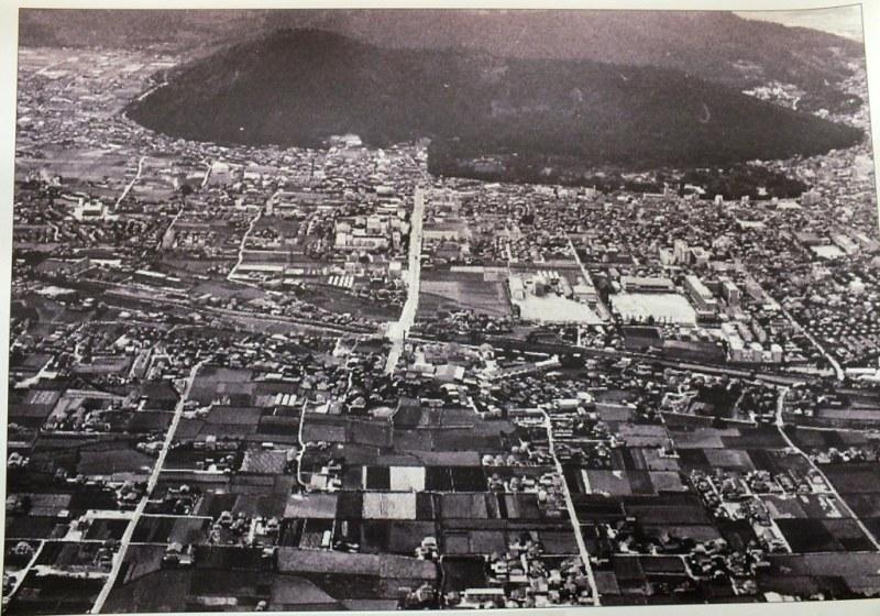 Vue aérienne de Takamatsu années 50