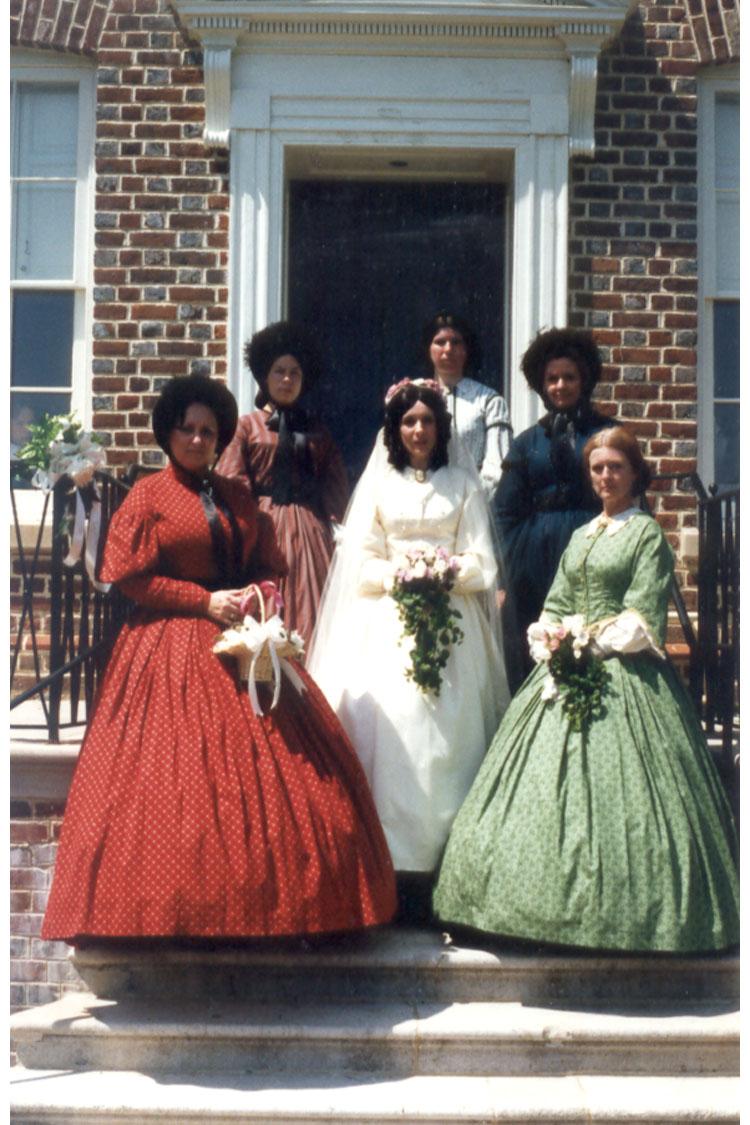 TONY AND I AT BELAIR CIVIL WAR WEDDING 1996 RENEWING OF