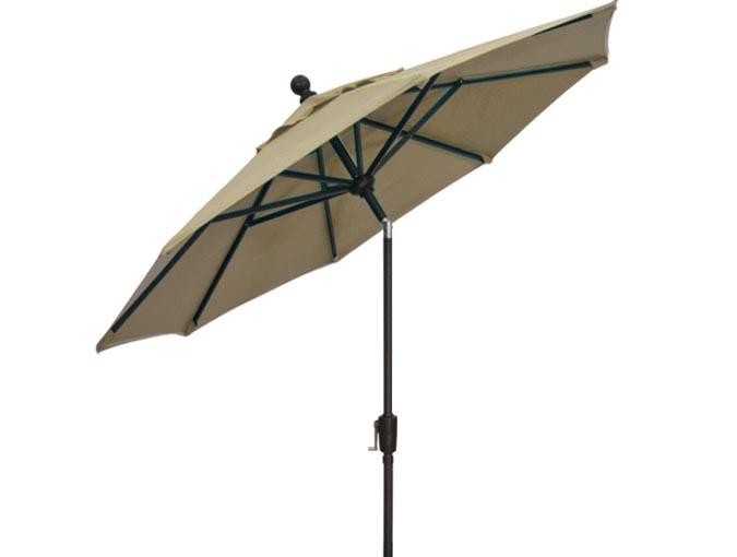 quality sand beige 11 foot octagonal patio umbrella by treasure garden