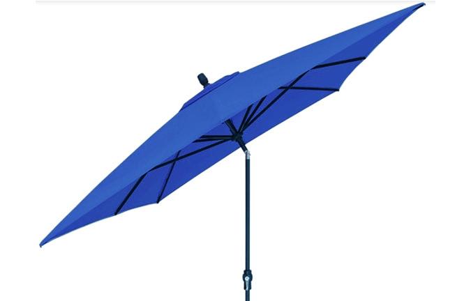 8x10 foot cobalt blue rectangular market patio umbrella