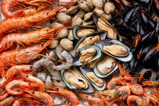 Ce qui peut manger devant les fruits de mer