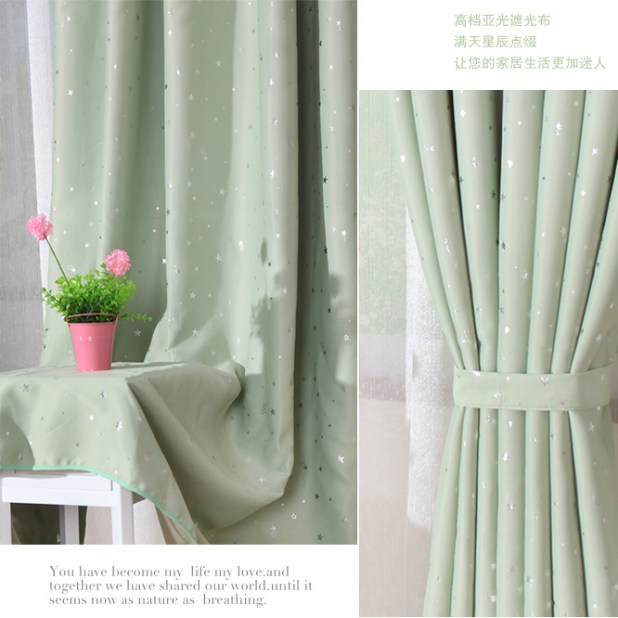fresh and unique light green bedroom or living room blackout - Green Bedroom Curtains