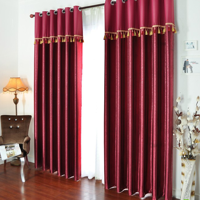 Bright Red Curtains Made Of Cotton And Poly For Blackout Buy