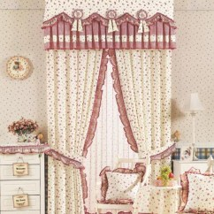 Cute Living Room Curtains Rooms With Grey Walls Or Bedroom Flowers Printing Lace Loading Zoom