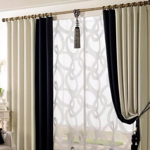 black and white curtains for living room tv unit design 2017 elegant multi color nice eco friendly buy loading zoom