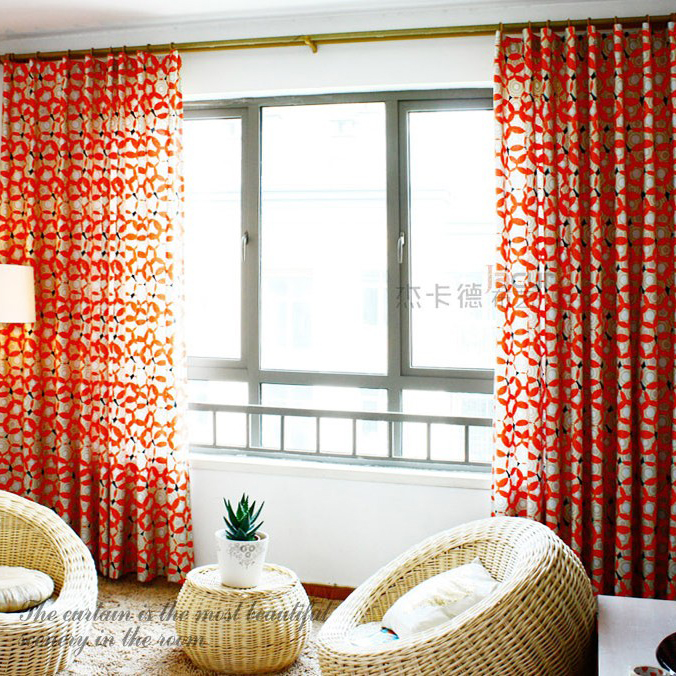 Festival Red Geometrical Printed Cotton Curtains Buy Red
