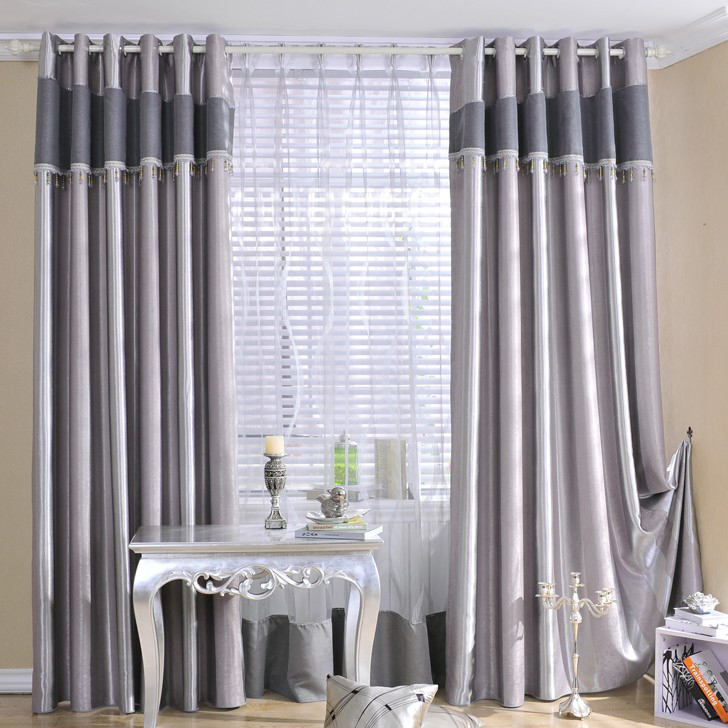 Graceful Grey Blackout And Energy Saving Poly Curtains Buy Grey