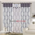 Modern grey curtains modern geometric patterns grey polyester blackout