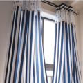 Nautical blue and white striped curtain