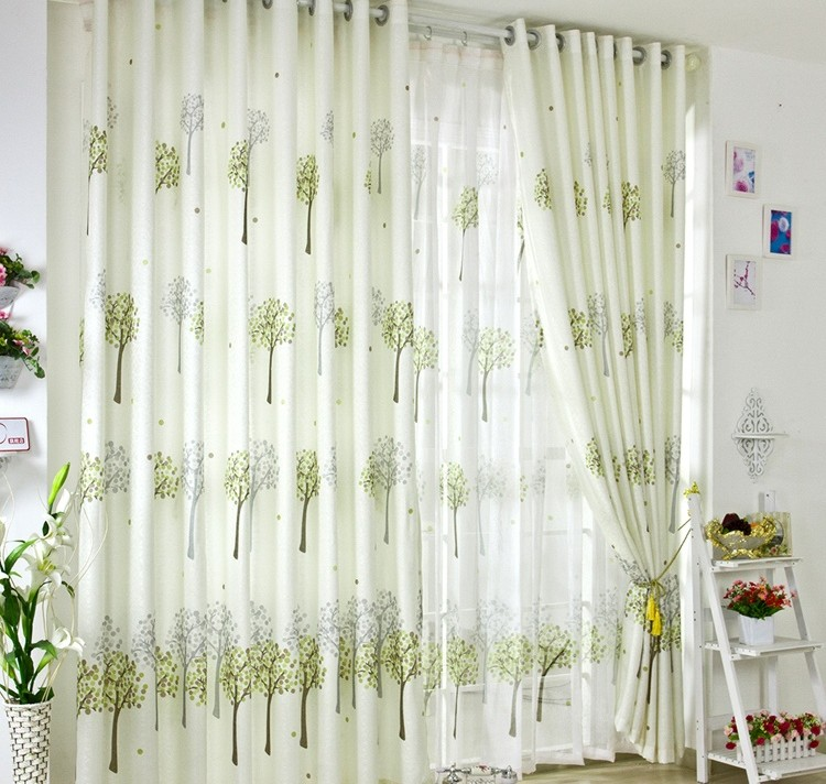 green curtains for living room ideas 2018 images refreshing tiny trees buy print loading zoom