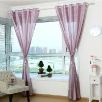 Mauve Colored Sheer Curtains