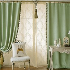 Green Curtains For Living Room Table Centerpieces Solid Color Elegant Blackout Buy Loading Zoom