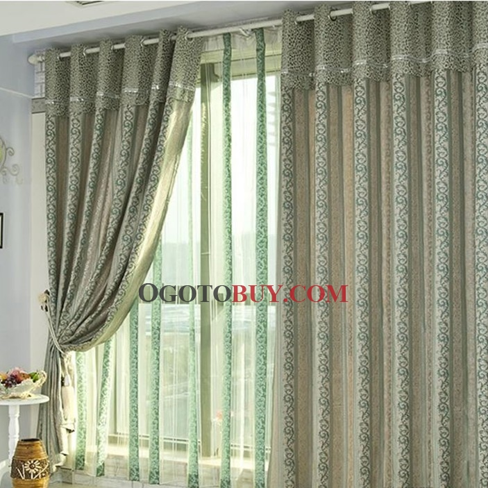 Special Price Jacquard Eco Friendly Green Thermal Curtains Buy