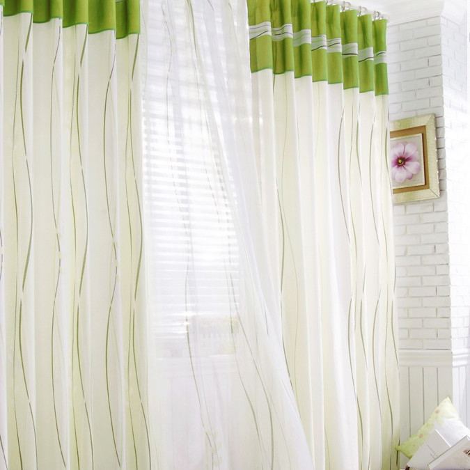 Specialy Price Lineatd White Cotton And Polyester Curtains Buy